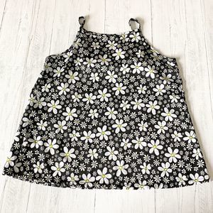 Knitworks Black With Daisies Tank Top